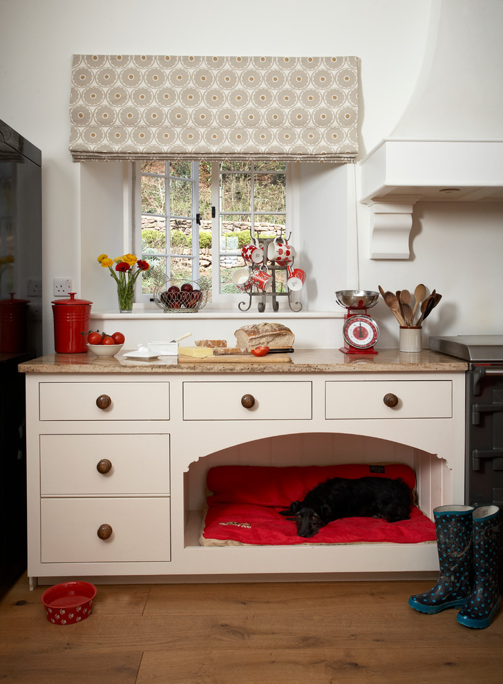 elevated dog bed Kitchen with cabinet and drawer pulls dog dog basket dog bed dog bed alcove