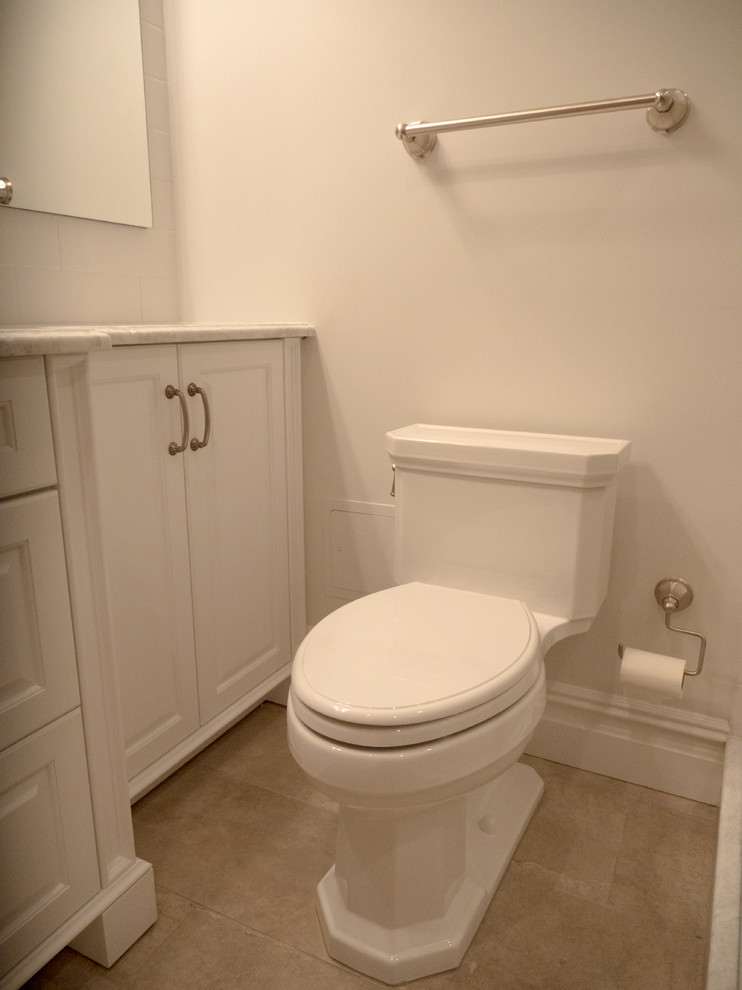 elongated toilet seat Bathroom Traditional with none