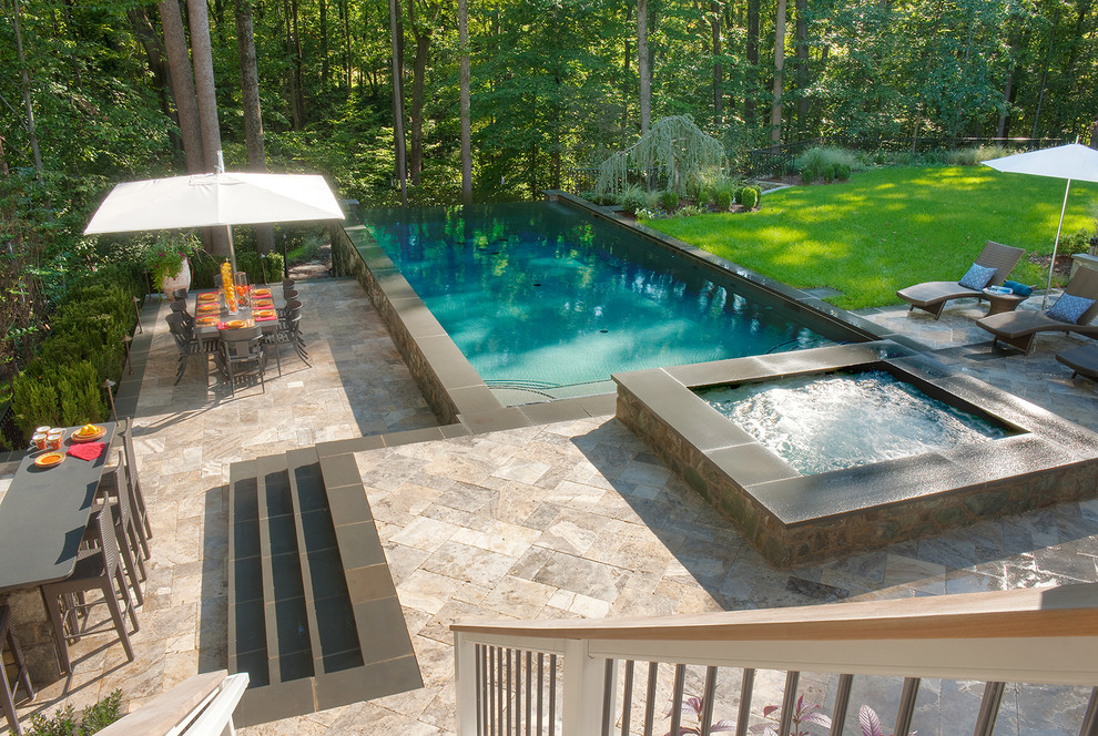 Emile Henry Pizza Stone Pool Traditional with Aquascape Blue Outdoor Construction of Swimming Pool Custom Outdoor Bar Custom Pool