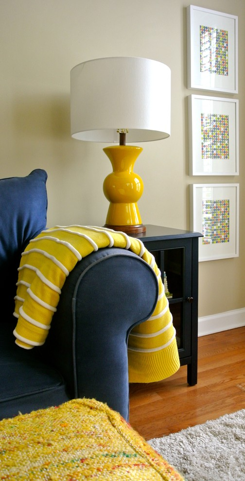 end tables ikea Family Room Eclectic with Accent Pillows artwork blue end table blue sofa books end table Ikea