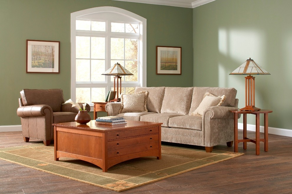 End Tables with Drawers Family Room Contemporary with Family Room Green Living Room Made in America Stickley