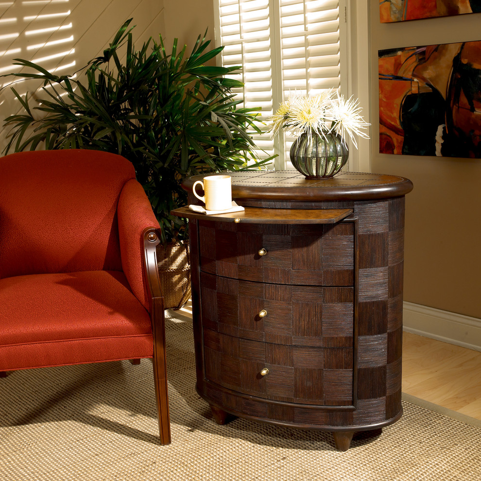 End Tables with Drawers Spaces Transitional with Butler Side Chest Butler Transitional End Table Designers Edge Oval Side Chest