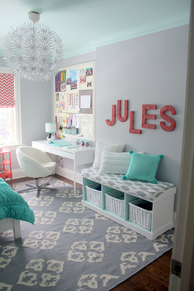 Entryway Bench Kids Contemporary with Girls Room Grey and Coral Tween Bedroom