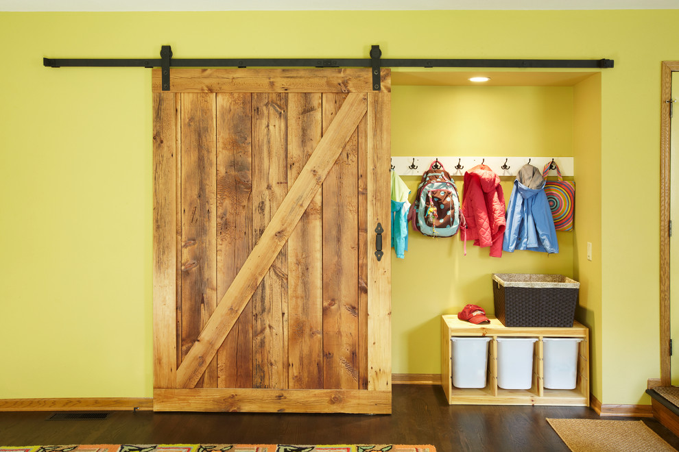 Essick Humidifiers Closet Eclectic with Barn Closet Door Barn Door Basket Closet Coat Hanger Dark Wood Dark