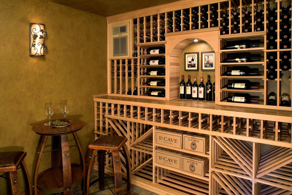 Essick Humidifiers Wine Cellar Rustic with Filagree High Table Square Bar Stool Seat Wall Sconce Wine Boxes Wine