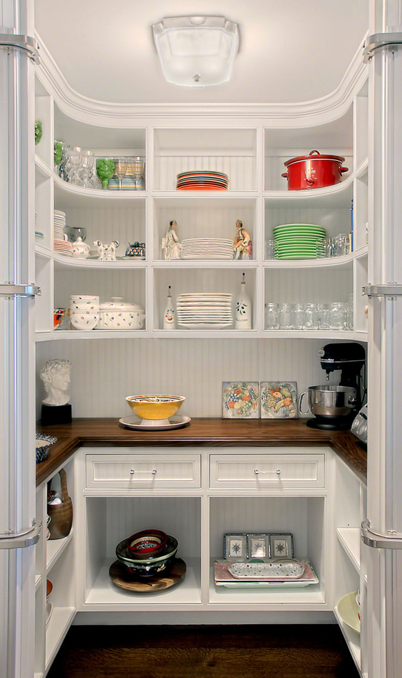 Everyday Dinnerware Kitchen Traditional with Bead Board Wall Benvenuti and Stein Design Build Chicago North Shore Curved