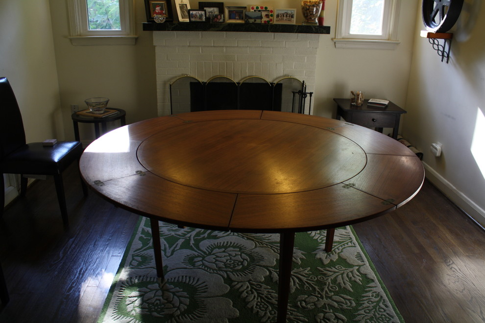 Expandable Dining Table Dining Room Eclectic with None