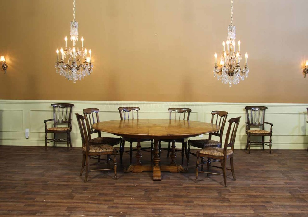 Expandable Round Dining Table Dining Room Rustic with Chandelier Dining Room Dining Room Chandelier Dining Room Lighting Eclectic Dining Room