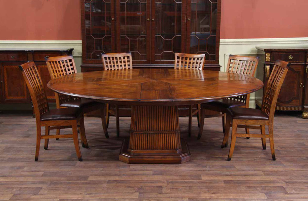 Expandable Round Dining Table Dining Room Tropical with 84 Round Dining Table Casual Elegance Dining Room Dining Room Furniture Encore