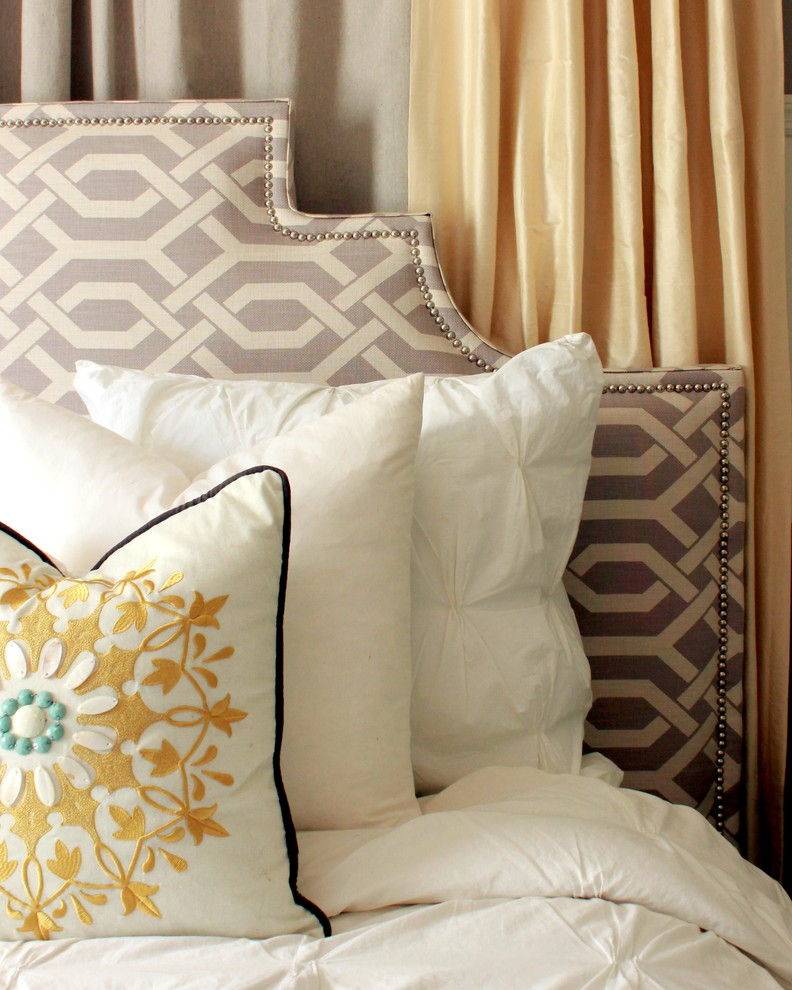Fabric Headboards Bedroom Contemporary with Diy Headboard Upholstered Headboard 1