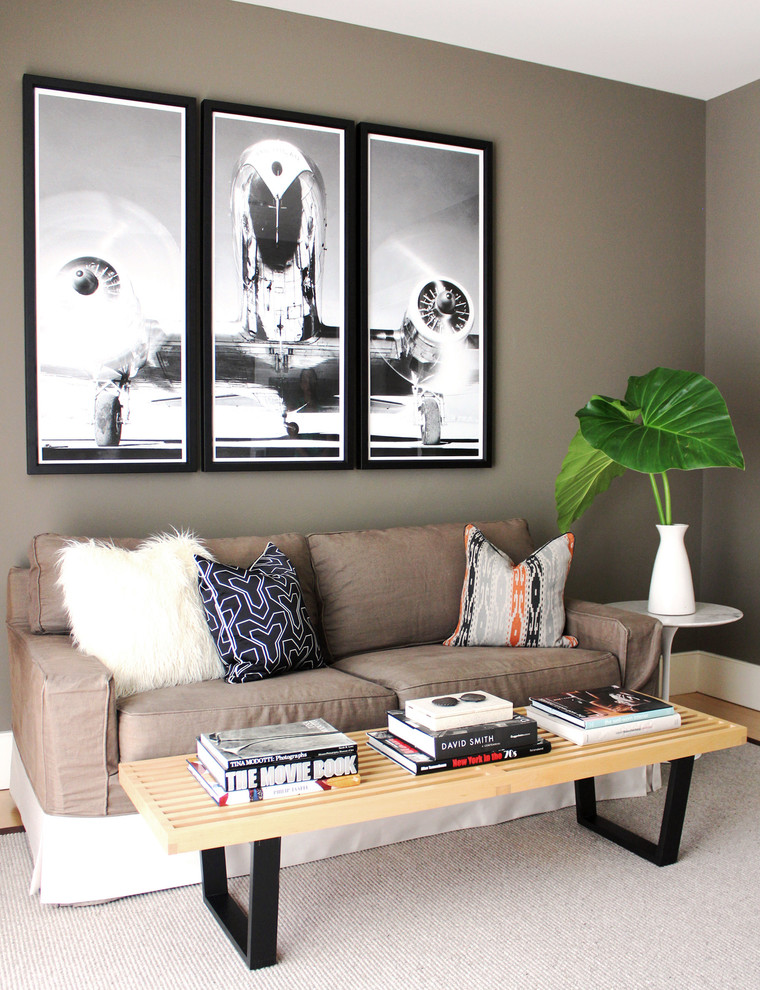 Faux Fur Pillow Living Room Contemporary with Black White Photograph Family Room Faux Fur Grey Walls Modern Living Room