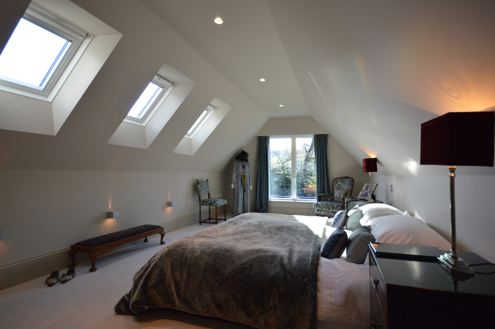 faux fur throws bedroom contemporary with grey velux windows - Throws Bedroom