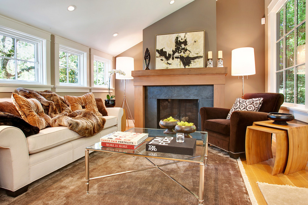 Attractive Faux Fur Throws Living Room Transitional With Brown Armchair Fireplace Fur  Throw Glass Coffee Table Light