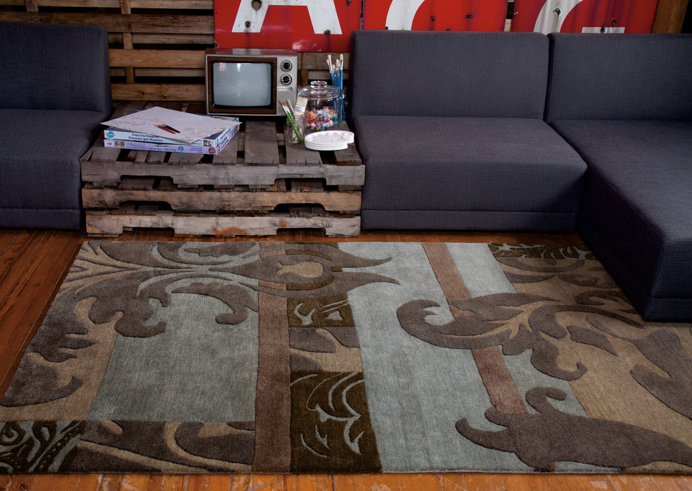 Feizy Rugs Living Room Eclectic with None