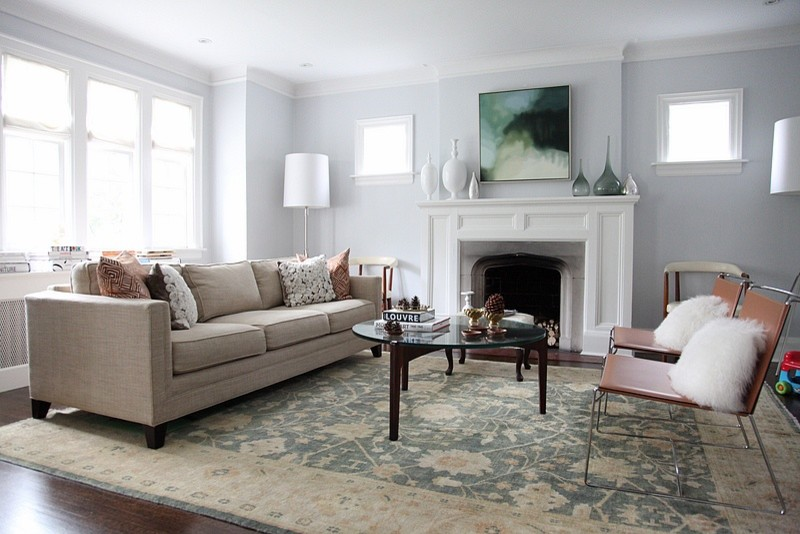 Fireplace Mantels Living Room Contemporary with None