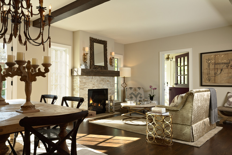 Fireplace Mantels Living Room Traditional with Beam Chandelier Dutch Door Fireplace Lighting Mantel Reclaimed Beam Mantel Sconces Stacked