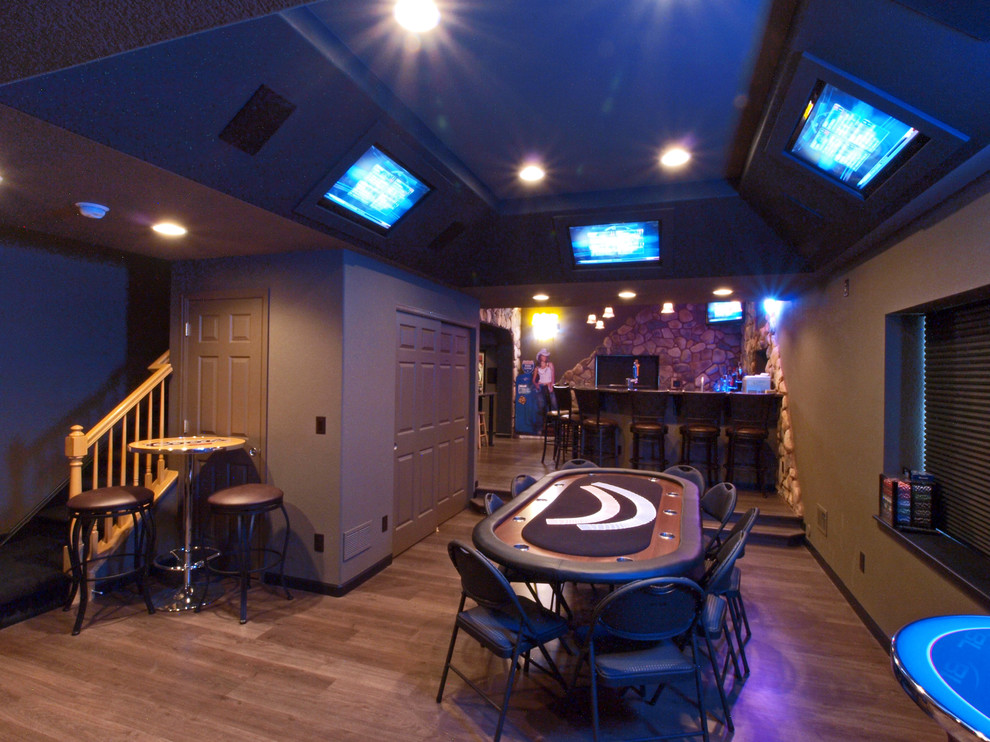 Fireplace Poker Set Basement Traditional with Bar Stools Built in Tv Cocktail Table Game Room Game Table Man