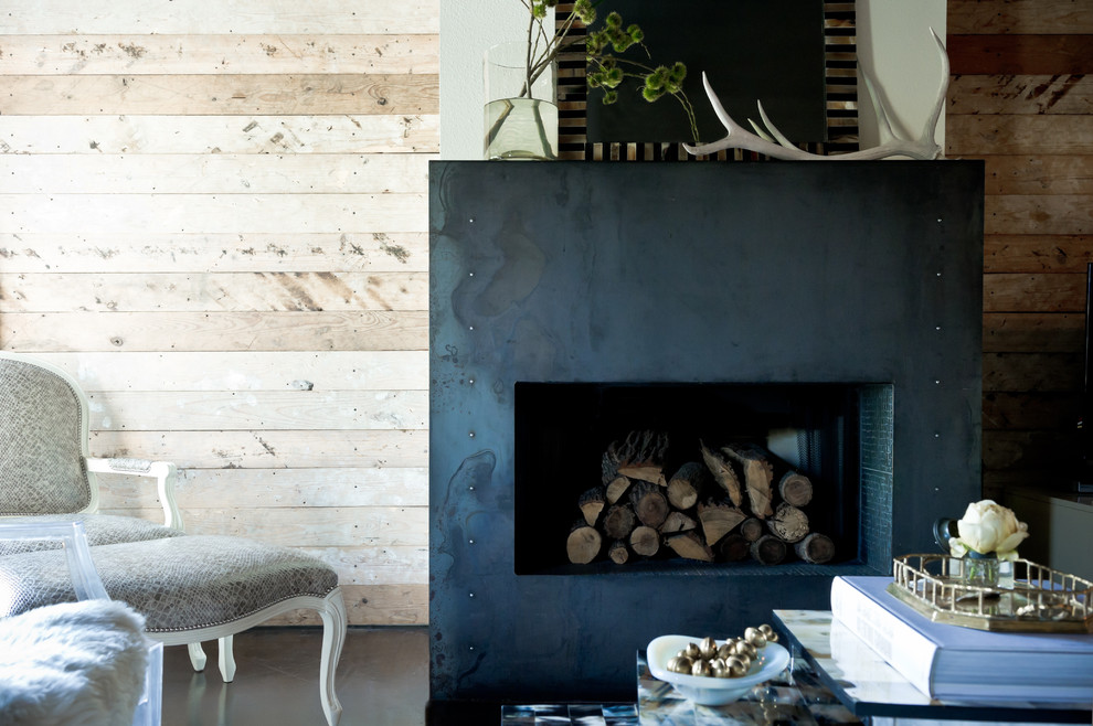 Fireplace Surround Living Room Eclectic with Antlers Bergre Chair Black and White Dark Floor Fireplace Mantel Fireplace Surround