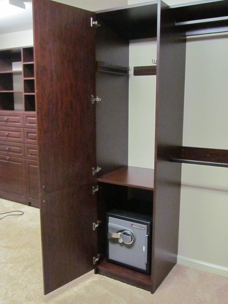 Fireproof safe closet traditional with atlanta custom for Custom home safes