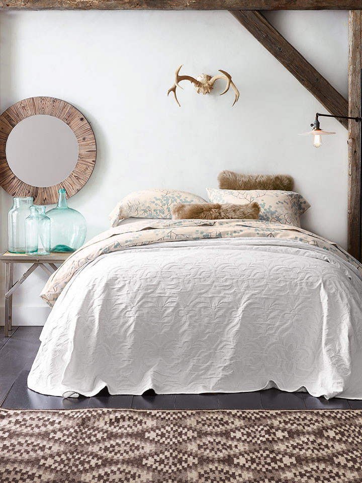 Flannel Bedding Bedroom Rustic with Flannel Sheets Matelasse Bedspread Round Wall Mirror