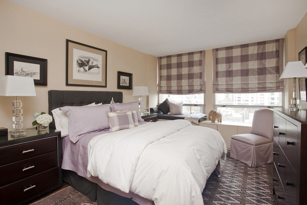 Flannel Sheets Queen Bedroom Contemporary with Area Rug Bedside Table Buffalo Plaid Lavender Neutral Colors Nightstand Plaid Purple
