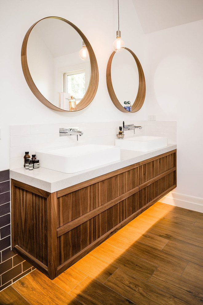 Floating Bathroom Vanity Bathroom Contemporary with Brown Tile Wall Contemporary Bathroom Vanity Double Bathroom Mirror Double Bathroom Sink