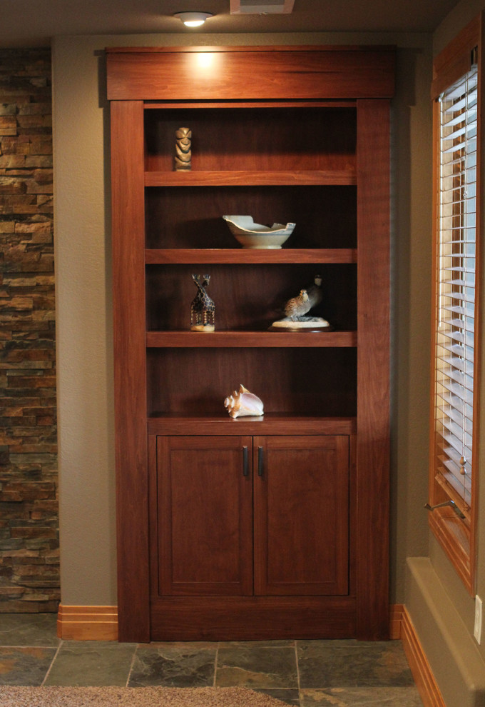Flotec Sump Pump Spaces Traditional with Hidden Door Bookcase Closed