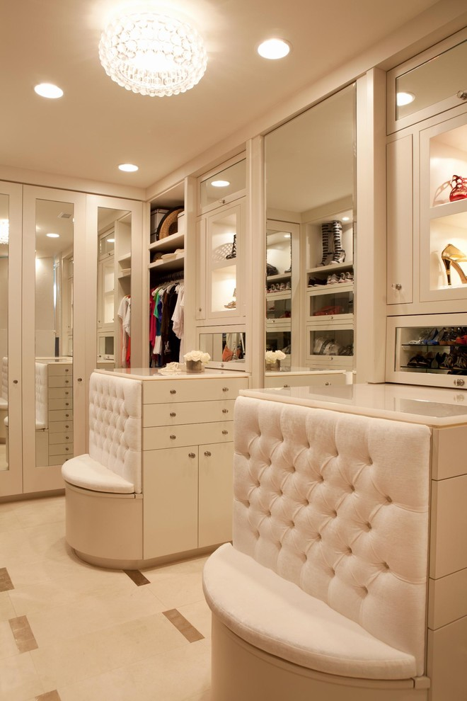 Flush Mount Chandelier Closet Contemporary with Built in Closet Built in Storage Ceiling Lighting Closet Bench Dressing Room
