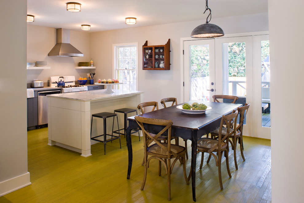 Flush Mount Light Dining Room Transitional with Baseboards Breakfast Bar Cake Stand Ceiling Lighting Centerpiece Eat in Kitchen Floating
