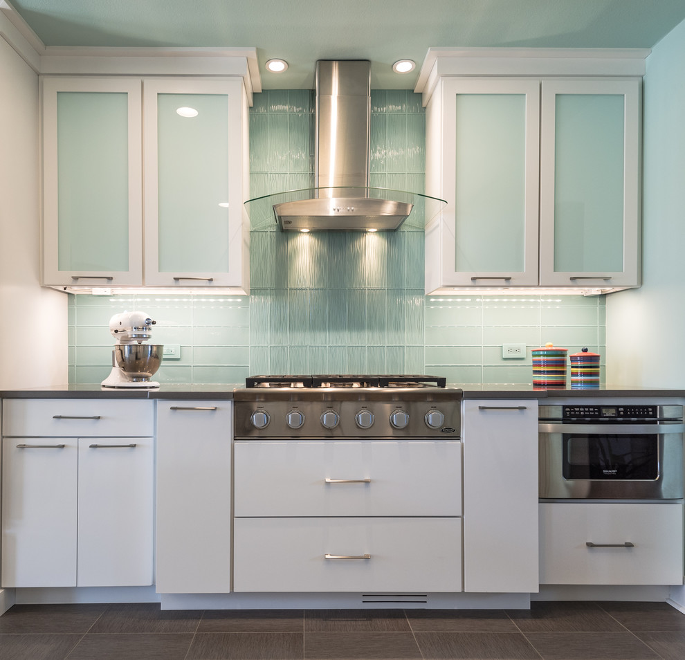 Flushmount Lighting Kitchen Modern with Arch Hood Banquette Banquette Seating Blanco Blanco Faucet Chic Kitchen Colorful Kitchen