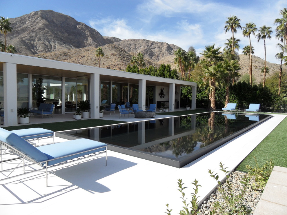 Foam Topper Pool with Architectural Elements Beautiful Pools Beverly Hills Classic Design Desert Design Desert Modern
