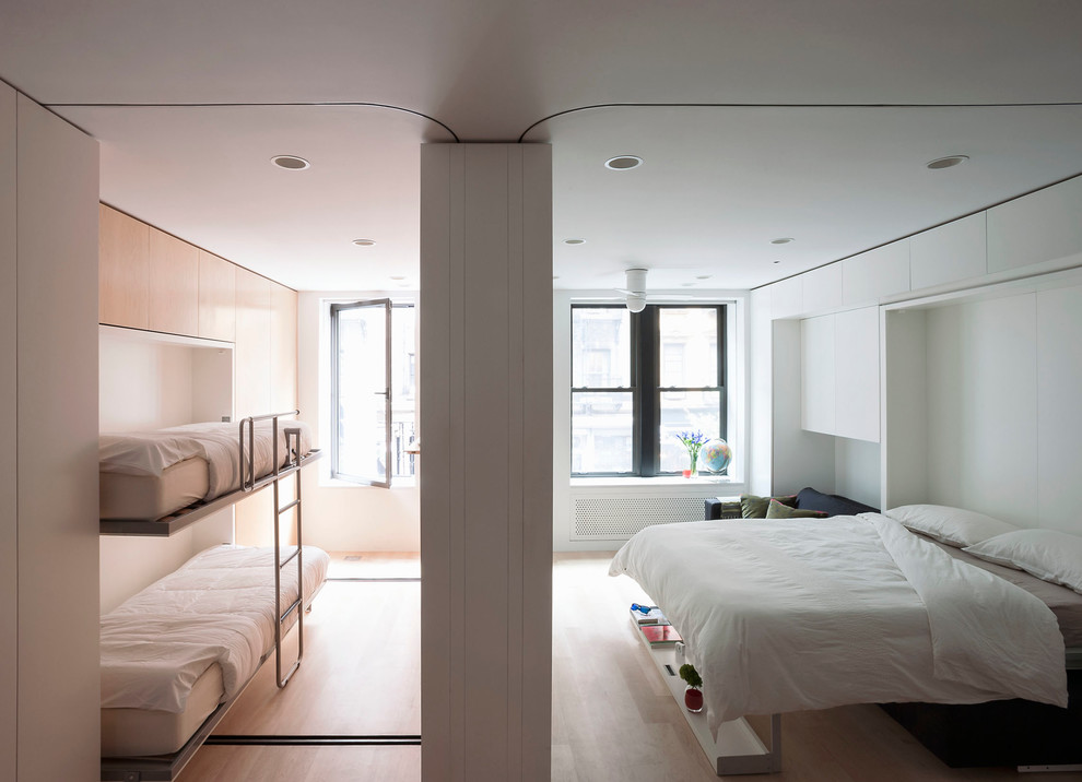 Foldable Bed Bedroom Modern with Built in Cabinets Built in Storage Hidden Storage Murphy Bed Pull Down Beds Pull Down Bunk