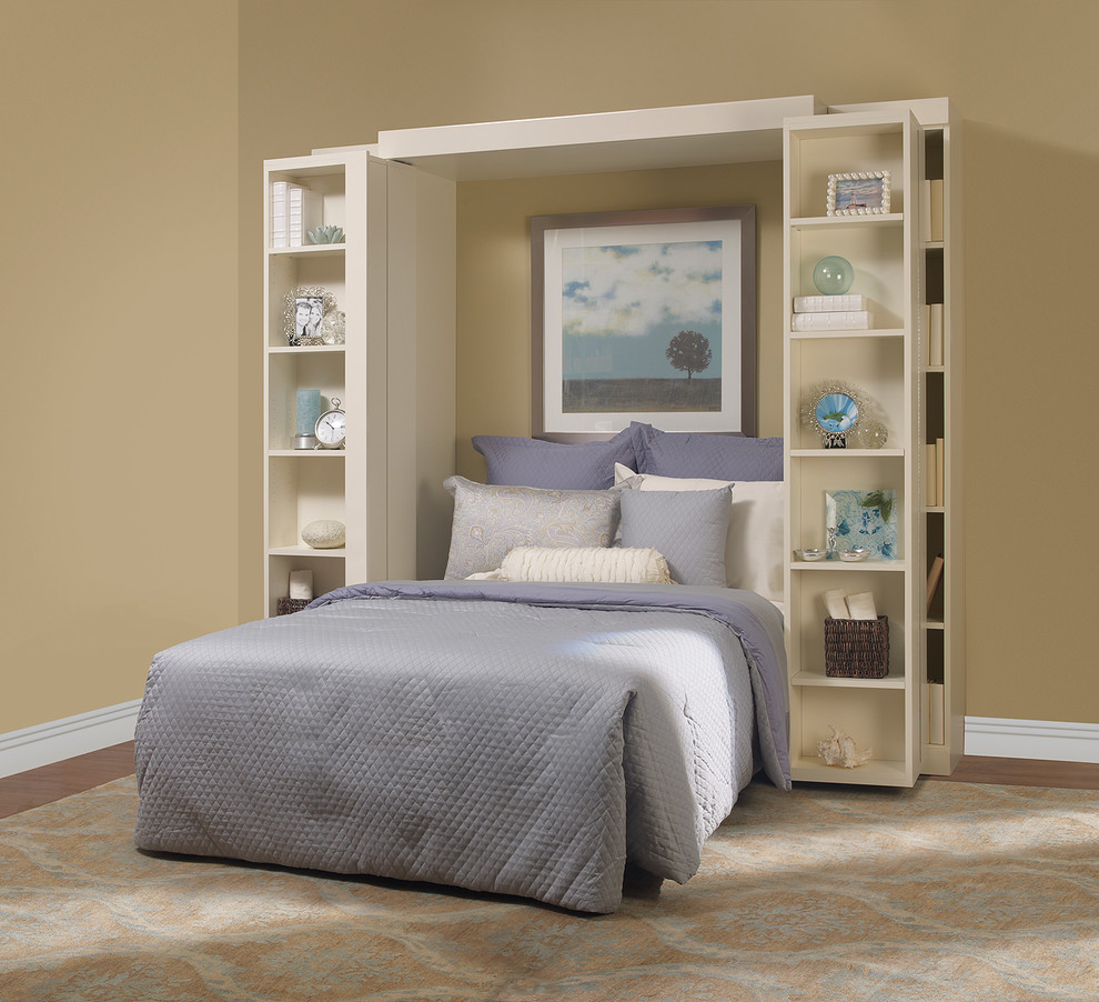 Folding Bookcase Bedroom Traditional with Madison Bi Fold Bookcase Bed More Space Place Murphy Bed Panel Bed Wallbed