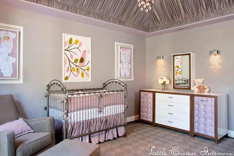 Folding Changing Table Kids Traditional with Fabric Draped Ceiling Girls Nursery Glamorous Nursery Modern Girls Nursery Nursery Design