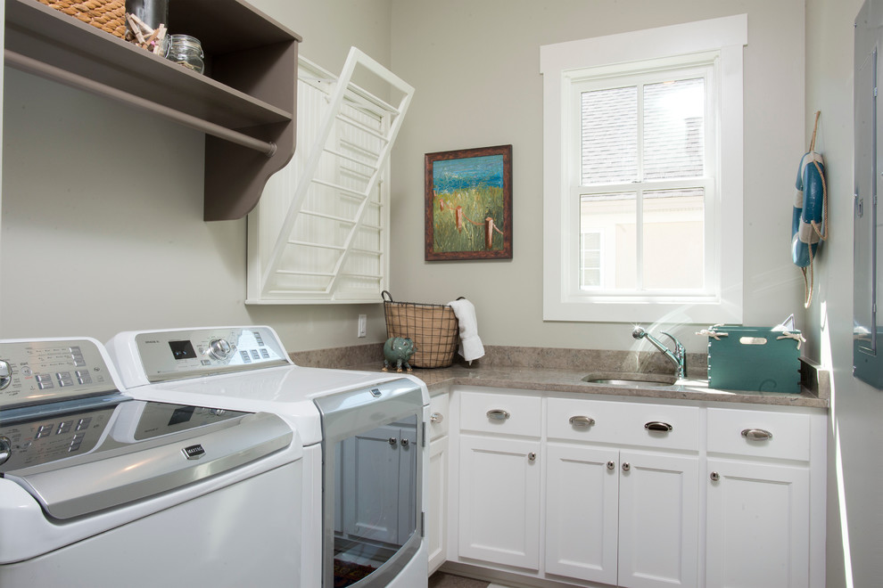 Folding Luggage Rack Laundry Room Farmhouse with Built in Cabinetry Charleston Country Custom Drying Rack Hilton Head Historical Low Country