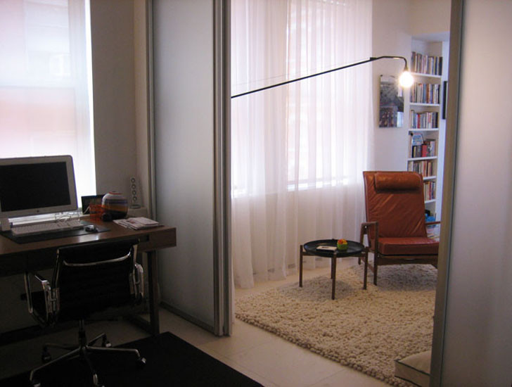 folding room dividers Home Office Modern with armchair curtains curtains as walls division eames chair lounge chair midcentury chair