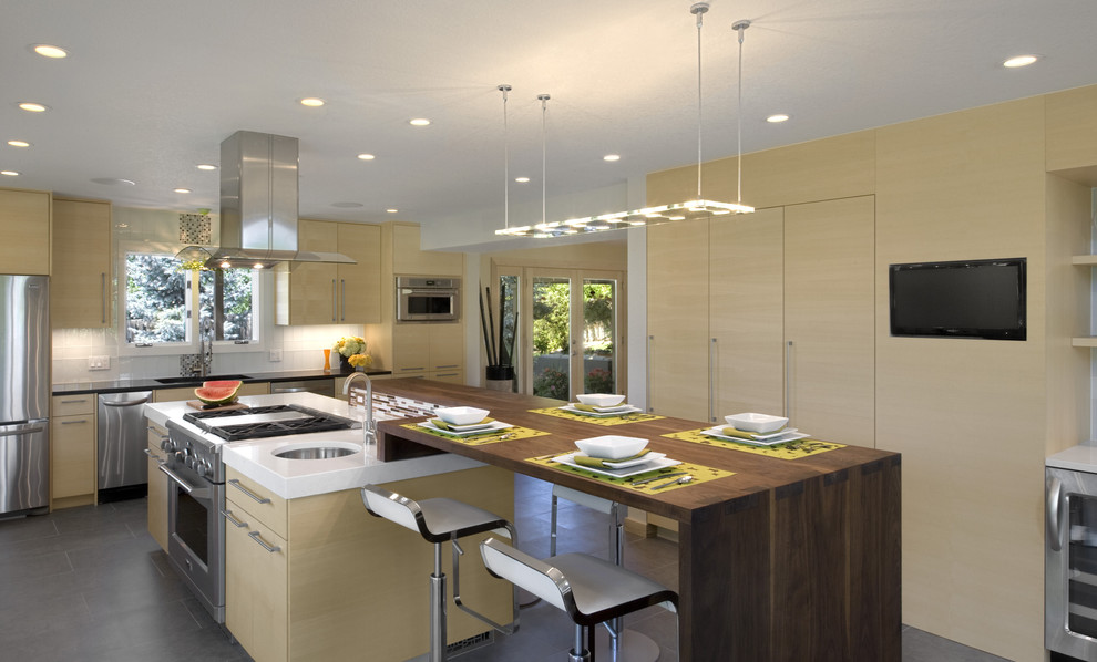 Fortessa Flatware Kitchen Modern with Bar Stool Bar Stools and Counter Stools Breakfast Bar Cabinet Caesarstone Ceiling
