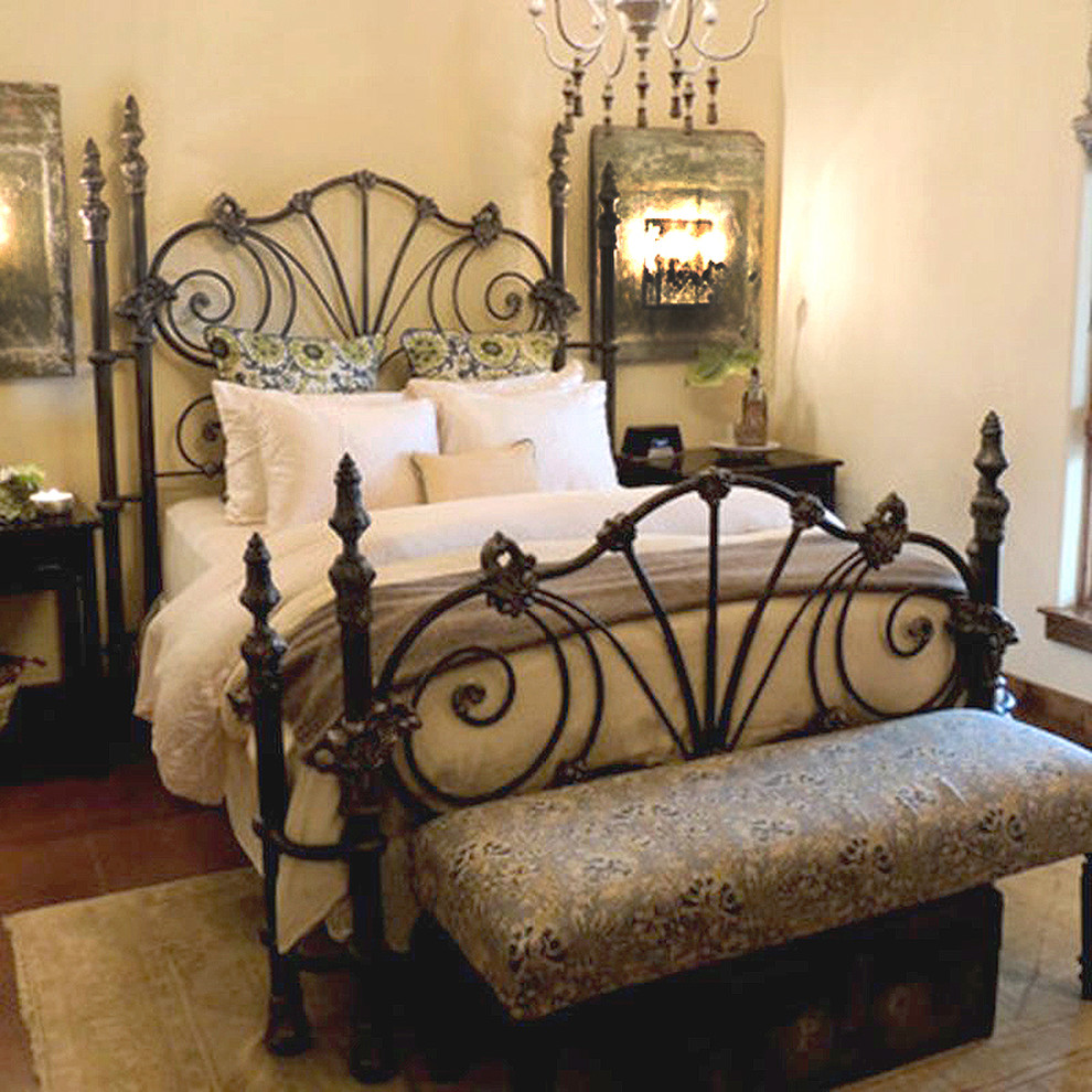Four Poster Beds Bedroom Traditional with Casted Iron Double Poster Bed Gothic Medieval Poster Bed Romantic Vintage Wrought