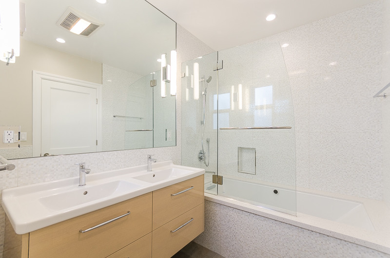 Frameless Mirrors Bathroom Modern with Bathroom Cabinets Bathroom Lighting Bathroom Remodel Bathroom Sink Glass Shower San Francisco