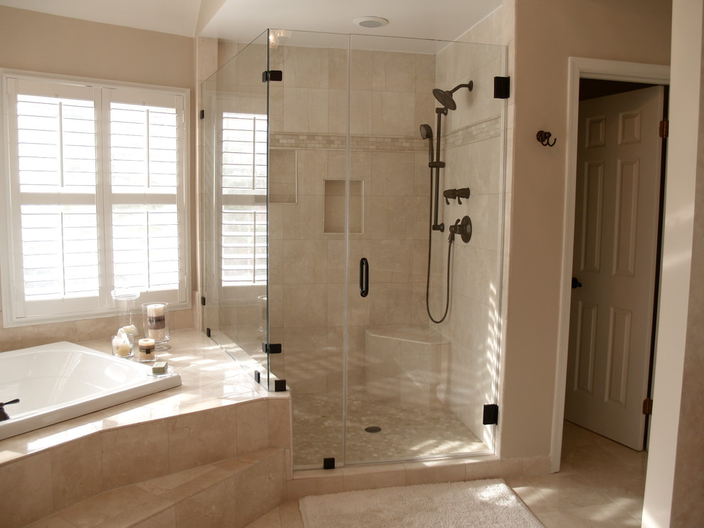 Frameless Shower Doors Spaces Traditional with Frameless Shower Doors Heavy Glass Shower Doors