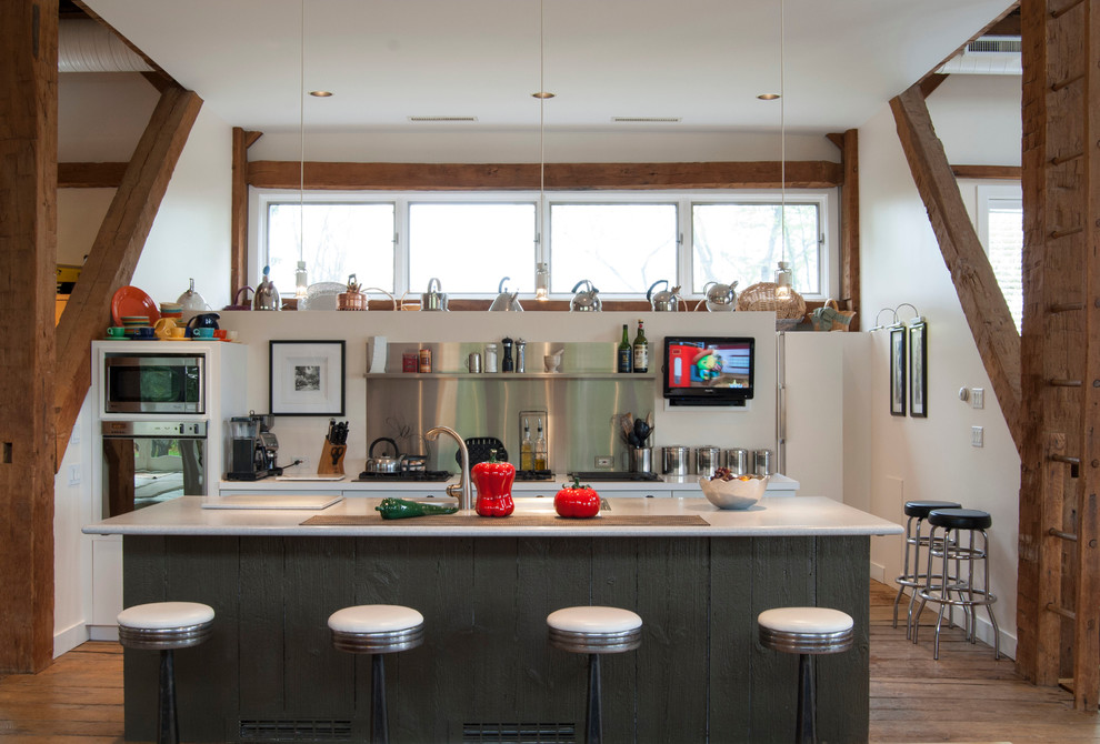 franklin brass Kitchen Farmhouse with Barn Conversion galley kitchen integrated bartools kitchen sink kitchen TV modern farmhouse