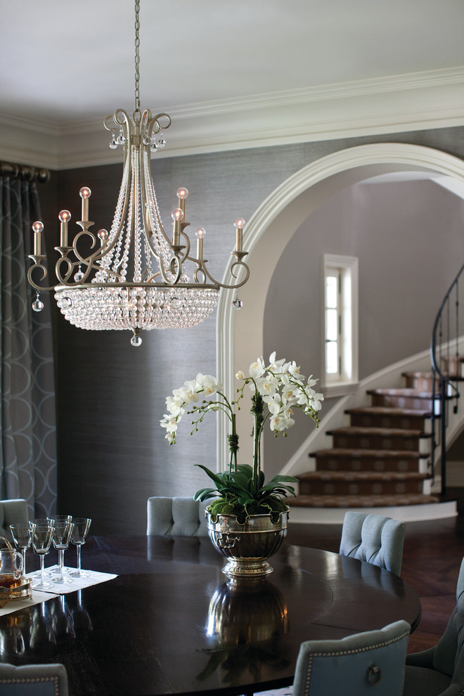 Fredrick Ramond Dining Room Traditional with Crystal Chandelier Dining Room Chandelier Fredrick Ramond Lighting Ornate Lighting