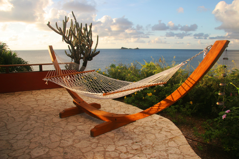 Free Standing Hammock Patio Tropical with Cactus Coastal Hammock Patio Furniture Patio Pavers View Waterfront