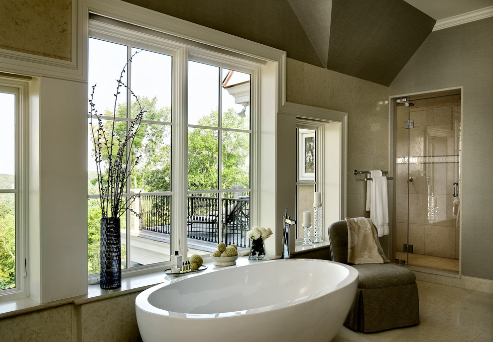 Freestanding Tub Bathroom with Balcony Balcony Off Master Bedroom Bathroom Bathroom Seating Birhgt Master Bathroom Built1