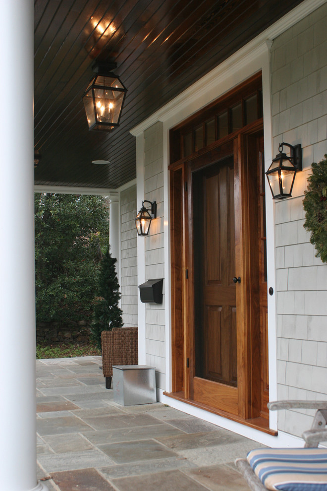 Front Door Wreaths Entry Traditional with Covered Entry Dark Ceiling Front Door Front Porch Lanterns Mailbox Outdoor Lighting