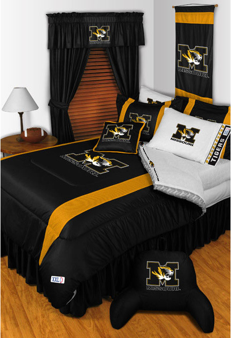 Full Comforter Sets Bedroom Traditional with Missouri Bedding Missouri Comforter Missouri Room Decor Missouri Sheets Missouri Tigers Bedding