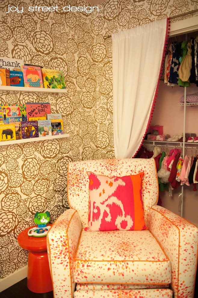 Full Daybed Kids Transitional with Full Size Daybed Fuschia Daybed Gold Wallpaper Pink and Orange Nursery Pink1