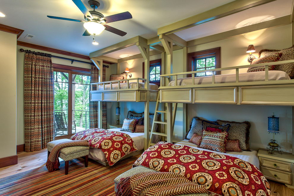 Full Size Comforter Sets Bedroom Traditional with Animal Print Balcony Beds Bedside Table Bunk Beds Bunk Room Bunks Custom