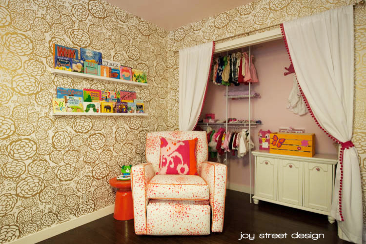 Full Size Daybeds Kids Transitional with Full Size Daybed Fuschia Daybed Gold Wallpaper Pink and Orange Nursery Pink