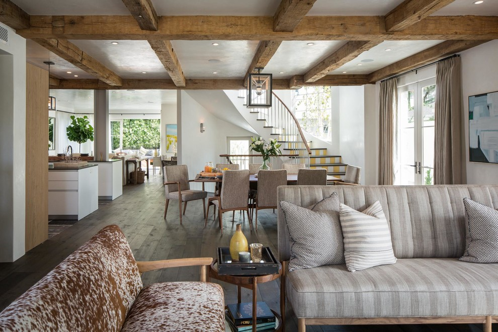 Futon Cover Living Room Transitional with Beige Curtains Belgian Country Bulthaup Clean Curved Staircase Exposed Beams French Country